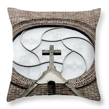 St. Wenceslaus Church Window Throw Pillow