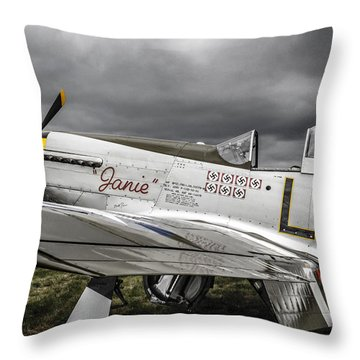 Stormy Sky Mustang Throw Pillow by Chris Smith