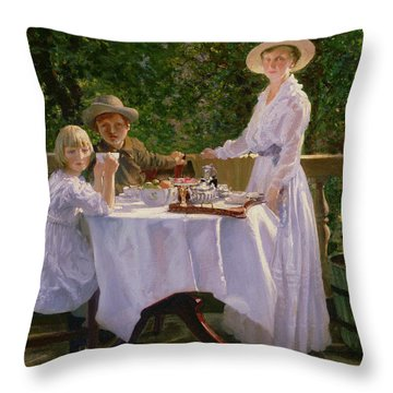 Summer Afternoon Tea Throw Pillow by Thomas Barrett