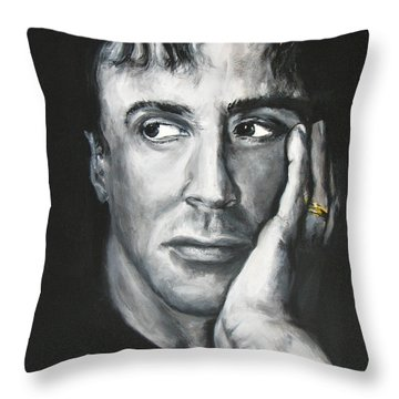 Sylvester Stallone Throw Pillow