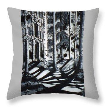 Take The Maine Path Throw Pillow