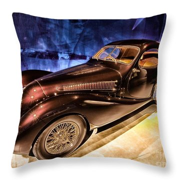 Talbot Lago 1937 Car Automobile Hdr Vehicle  Throw Pillow by Paul Fearn