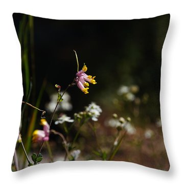 Tall Corydalis Throw Pillow