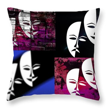Thalia And Melpomene Throw Pillow