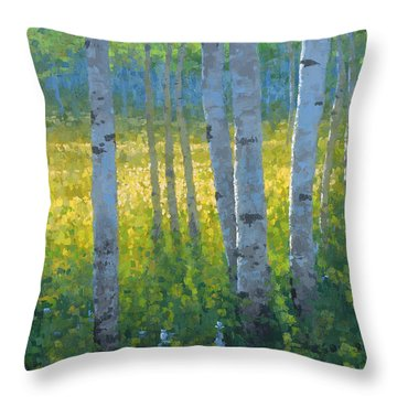 The Dancing Sun Throw Pillow