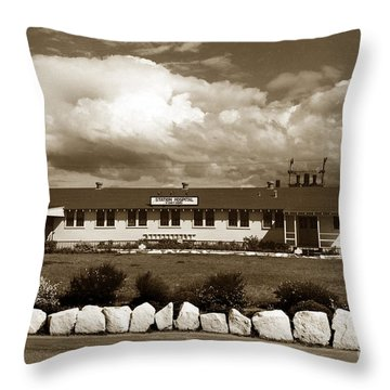 The Fort Ord Station Hospital Administration Building T-3010 Building Fort Ord Army Base Circa 1950 Throw Pillow