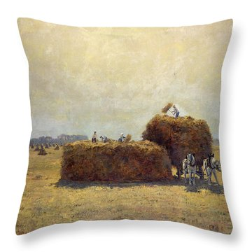 The Harvest Throw Pillow by Pierre-Georges Dieterle
