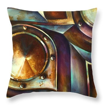' The Keep ' Throw Pillow by Michael Lang
