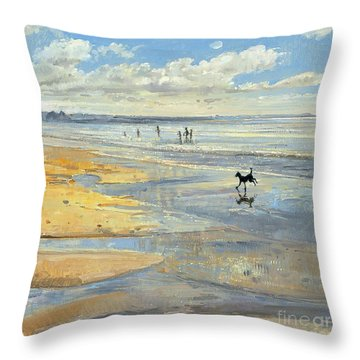 The Little Acrobat  Throw Pillow by Timothy  Easton