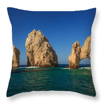 The Sea Arch El Arco De Cabo San Lucas Throw Pillow