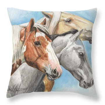 The Trio Picasso River Bobby Throw Pillow