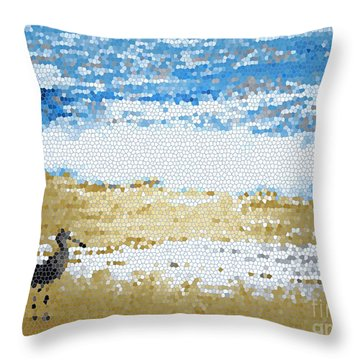 Throw Pillow featuring the photograph  Thinking Of Summer by Everette McMahan jr