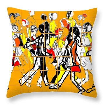 Trapped In Routine Throw Pillow by Sladjana Lazarevic