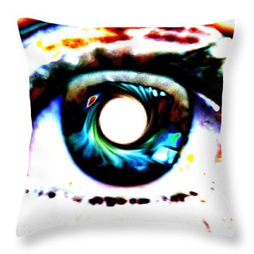 Travelling View  Through 26 Spacetime Dimensions In The Bosonic String Throw Pillow