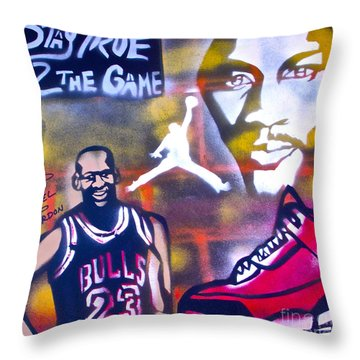 Truly Michael Jordan  Throw Pillow by Tony B Conscious