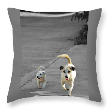 Two Of A Kind Throw Pillow by Michelle Meenawong