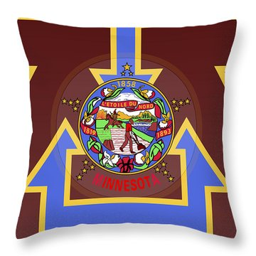 U Of M Minnesota State Flag Throw Pillow