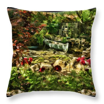 Uncle Toms Cabin  Throw Pillow by Blake Richards