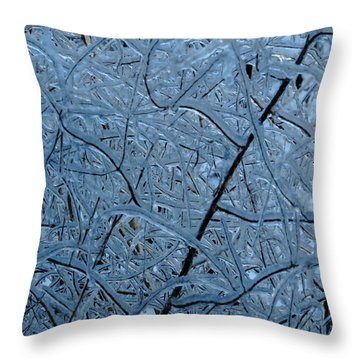 Vegetation After Ice Storm  Throw Pillow