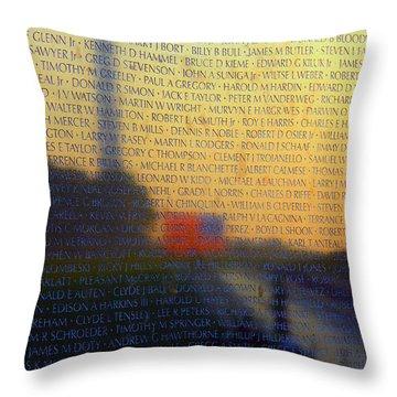 Vietnam Veterans Memorial Throw Pillow by Mitch Cat