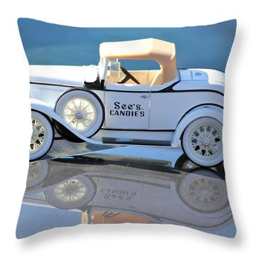 Throw Pillow featuring the photograph  Vintage Car by Lorna Maza