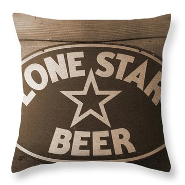 Vintage Sign Lone Star Beer Throw Pillow