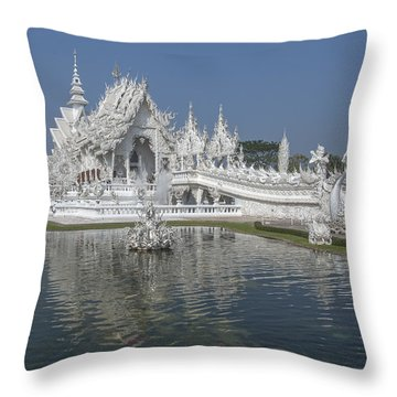 Wat Rong Khun Ubosot Dthcr0001 Throw Pillow
