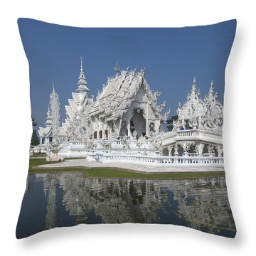 Wat Rong Khun Ubosot Dthcr0002 Throw Pillow