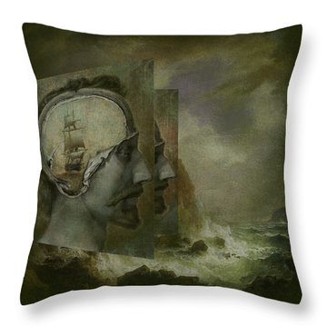 When A Man's Thoughts Turn Toward The Sea Throw Pillow