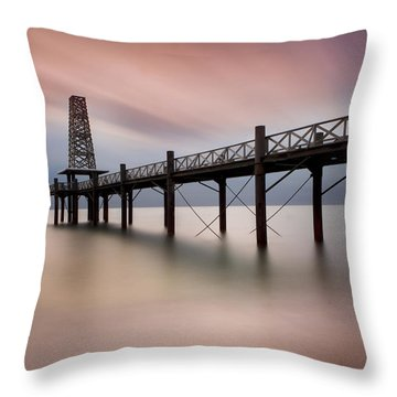 Wooden Pier Throw Pillow