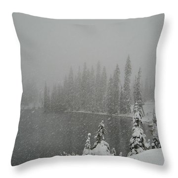 You Can Almost Hear The Snow In This Peace  Throw Pillow