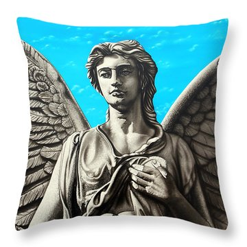 Throw Pillow featuring the painting  You Choose by Dan Menta