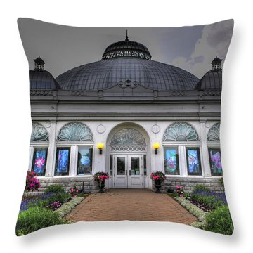 001 Buffal And Erie County Botanical Gardens Throw Pillow