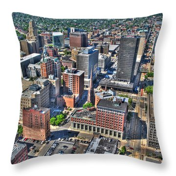 0017 Visual Highs Of The Queen City Throw Pillow