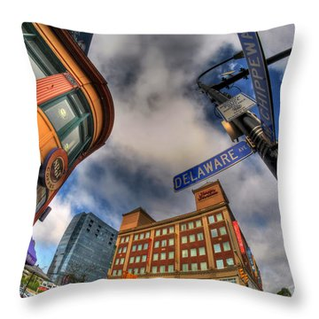 002 Delaware And Chipp Throw Pillow
