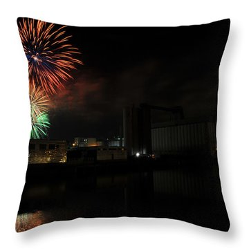 0020 ...the Bombs Bursting In Air...4jul13 Series Throw Pillow by Michael Frank Jr