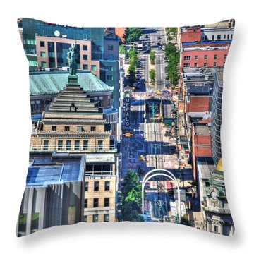 0024 Visual Highs Of The Queen City ...main St... Throw Pillow