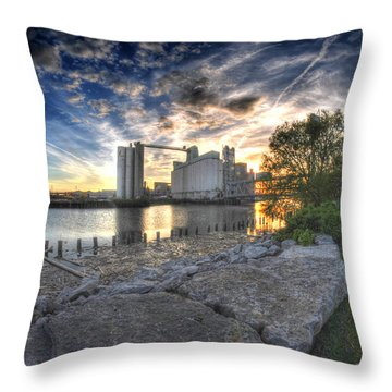 003 General Mills At Sunset Throw Pillow