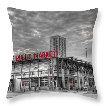 0038 Milwaukee Public Market Throw Pillow
