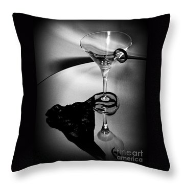 Throw Pillow featuring the photograph  Martini Glass Charm by Linda Bianic