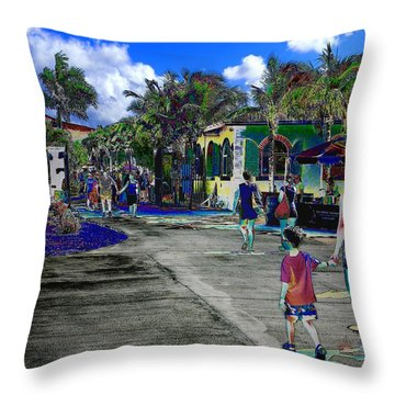 Throw Pillow featuring the photograph St Croix Stencil  by EDi by Darlene