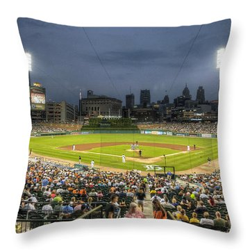 0101 Comerica Park - Detroit Michigan Throw Pillow by Steve Sturgill