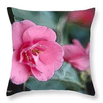 012 Pink Crystal Throw Pillow