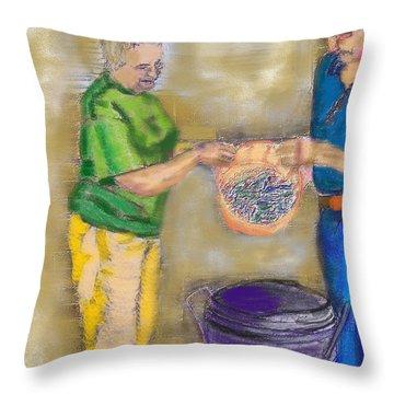 01252015 Boiling Louisiana Blue Crabs Throw Pillow