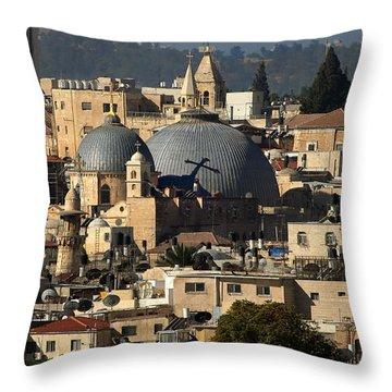 015 Jerusalem Throw Pillow by Alex Kolomoisky