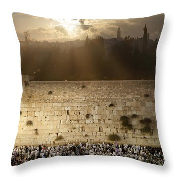 018 Jerusalem Throw Pillow by Alex Kolomoisky