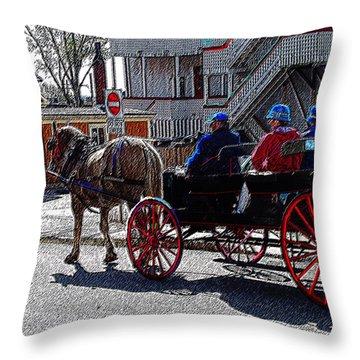 02162015 Buggy Ride Eastern Canada Throw Pillow