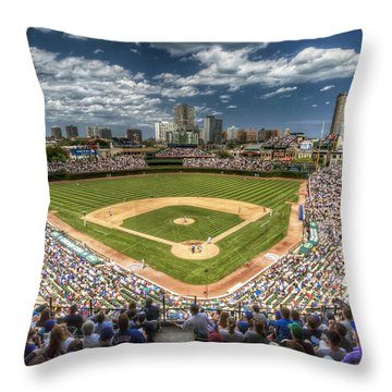 0234 Wrigley Field Throw Pillow