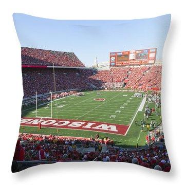0251 Camp Randall Stadium - Madison Wisconsin Throw Pillow