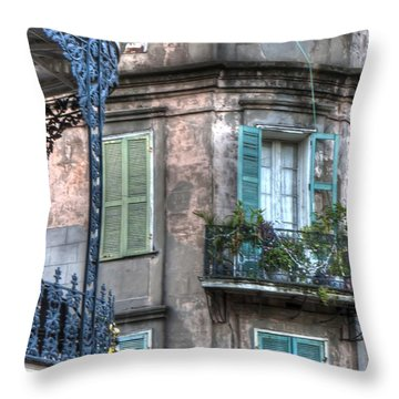0254 French Quarter 10 - New Orleans Throw Pillow by Steve Sturgill